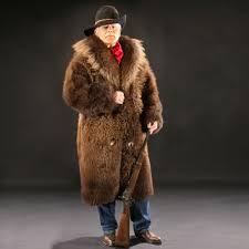 buffalo fur coat full front view