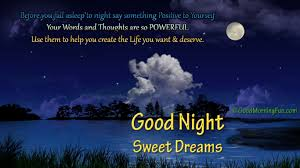 Beautiful Quotes On Good Night Best of Good Night Motivational Quote With Beautiful Moon Clouds And River