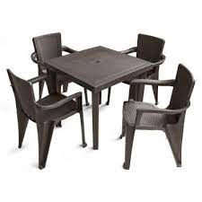 outdoor plastic table and chairs set