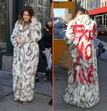 khloe kardashian makes anti fur statement with faux fur coat with the f word