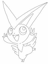Free Victini Pokemon Coloring Page Visit