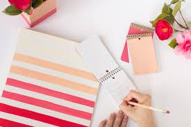 diy office supplies. diy ombre painted office supplies diy e