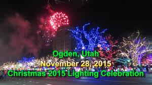 Ogden City Park Christmas Lights Christmas 2015 Lighting Celebration Ogden City Utah 11 28 2015