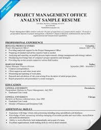 pmo resume templates - Pmo Analyst Resume