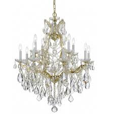 crystorama maria theresa 13 light swarovski strass crystal gold chandelier ii
