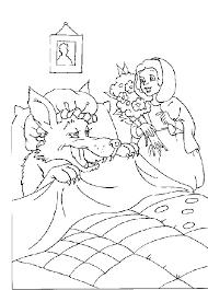 Kleurplaat Rood Kapje Animaatjesnl