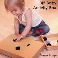 diy baby activity box danya banya