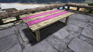 Coffee Table Painting Wooden Table Official Ark Survival Evolved Wiki