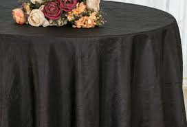 132 round crushed taffeta tablecloth black 63039 1pc pk