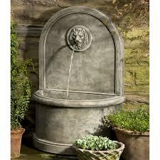 campania international fountains. Unique International Campania International Lion Wall Cast Stone Outdoor Outdoor Garden Wall  Fountains Intended Fountains N