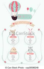 Birthday Seating Chart