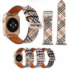 Designer 38mm Apple Watch Bands Luxury Apple Watch Straps Designer Apple Watch Band Iwatch 38mm 42mm Iwatch 2 3 Bands Fashion Grid Print Leather Brand Iwatch Straps