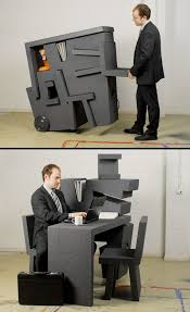 creative furniture design. Portable Office Furniture Chair And Desk Creative Design