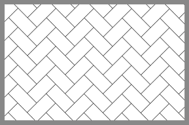 Herringbone Tile Pattern Layout