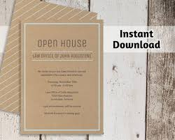 Printable Business Invitation Template Open House