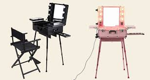 makeup station with chair