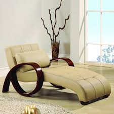 Lounge Chairs For Bedroom Chaise Lounge Chairs Beige Leather Chaise Lounger Modern Tufted