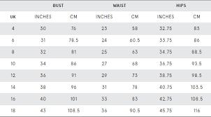 Us Tops Size Chart Womens Tops Dresses Help Topics