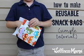 how to make homemade reusable snack bags