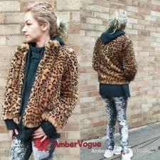 zara leopard print faux fur fur fur coat size m ff0ed7