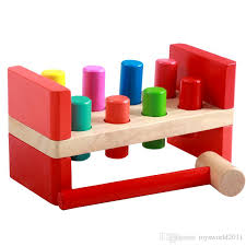 2019 deluxe pounding bench peg wooden toy with mallet early educational for toddlers kids from toysworld2016 9 05 dhgate com