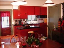 Red Kitchen Paint Rustic Red Kitchen Cabinets Zampco