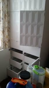 2 times ikea metod high cabinet with shelves 3 doors 4 drawers 40 x 60 x 220 cm