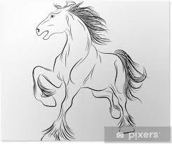 Plakát Vektorový Obrázek Koně Tetování