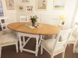 antique shabby chic dining set solid oak dining table and 6 for kitchen table for 6