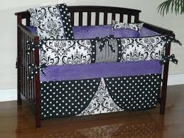 purple baby bedding set m ornate black and white baby crib bedding set with purple reverse purple baby bedding