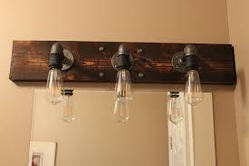 bathroom lighting above mirror. DIY Industrial Bathroom Light Fixtures : Lighting Above Mirror Diy