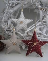 Baumschmuck Stoff Weihnachtsbaumschmuck Sterne Im