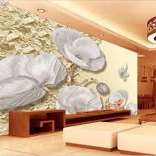 Elegante Grijs Wit Rose Strip 3d Kamer Reliëf Behang Voor 3 D Muur