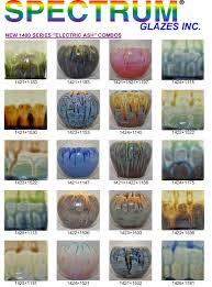 Spectrum 1420 Series Electric Kiln Ash Glazes 4 6