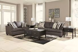 Marlo Furniture Living Room Signature Design By Ashley Levon Charcoal Stationary Living Room