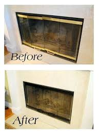 painting brass fireplace door trim did this before we sold our replace fireplace doors replacement fireplace how to install glass