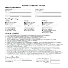 Photography Contracts Simple Wedding Photography Contract Template