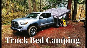 Camping on the Truck Bed of a 2017 Tacoma TRD Off Road - YouTube