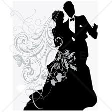 Silhouette Wedding Invitation At Getdrawingscom Free For Personal