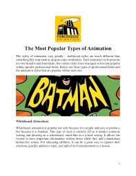 The Most Popular Types Of Animation
