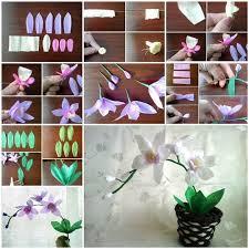 Paper Orchid Flower Diy Crepe Paper Orchids