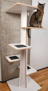 Cat furniture modern Attractive Image Unavailable Wayfair Amazoncom Baobab Modern Cat Tree In Ecofriendly White Laminate