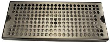 12 x 5 x 1 stainless steel drip tray with drain