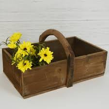 reclaimed wood french trug