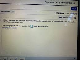 Solved: Homework: HW 1.3 Average Rates Of Change Score: 0 ...   Chegg.com