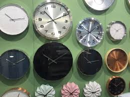 black wall karlsson clocks