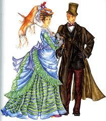 Европейская мода второй половины века Второе Рококо  женская и мужская мода второй половины 19 века