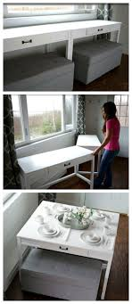 features romantic space saving folding. Space Saver: DIY Convertible Desk For Tiny House Features Romantic Saving Folding N
