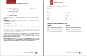 Official Documents Template Ms Word Dealership Agreement Template Word Document Templates