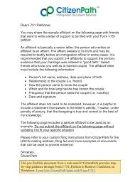 I 751 Cover Letter Sample 2013 I 751 Affidavit Sample